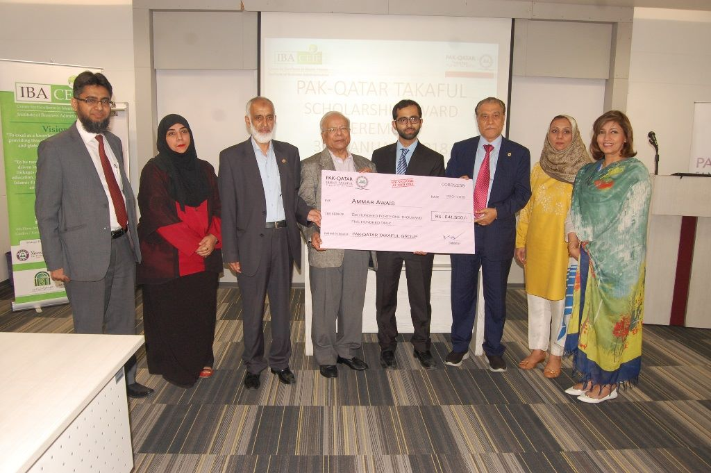 Scholarship sponsored by Pak-Qatar Takaful Group to IBA-CEIF student